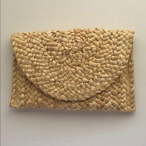 Handwoven rattan/basketweave  purse clutch